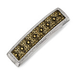 2483 Boutique Jewelry Fashion Brass-tone Hair Barrette Silver-tone by 1928 Jewelry MPN: BF3050