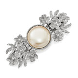 2488 Boutique Jewelry Fashion Acrylic Pearl Hair Barrette Silver-tone by 1928 Jewelry MPN: BF2920