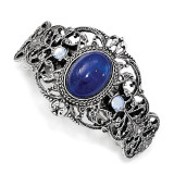 2503 Boutique Jewelry Fashion Blue Acrylic and Blue Crystal Ponytail Holder Silver-tone by 1928 Jewelry MPN: BF3005