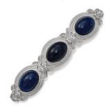 2505 Boutique Jewelry Fashion Blue Acrylic Stone Hair Barrette Silver-tone by 1928 Jewelry MPN: BF3002