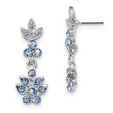 2509 Boutique Jewelry Fashion Blue Crystal Dangle Post Earrings Silver-tone by 1928 Jewelry MPN: BF3014