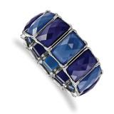 2517 Boutique Jewelry Fashion Blue Epoxy Stones Stretch Bracelet Silver-tone by 1928 Jewelry MPN: BF3008