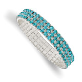2519 Boutique Jewelry Fashion Blue Glass Stone Stretch Bracelet Silver-tone by 1928 Jewelry MPN: BF3047