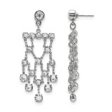 2525 Boutique Jewelry Fashion Bridal Swarovski Elements Dangle Post Earrings Silver-tone by 1928 Jewelry MPN: BF2902