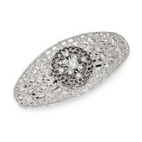 2543 Boutique Jewelry Fashion Crystal Hair Barrette Silver-tone by 1928 Jewelry MPN: BF2906