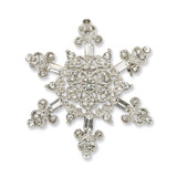 2549 Boutique Jewelry Fashion Crystal Snowflake Pin Silver-tone by 1928 Jewelry MPN: BF729