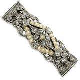 2550 Boutique Jewelry Fashion Crystal Stones and Acrylic Beads Barrette Silver-tone by 1928 Jewelry MPN: BF358