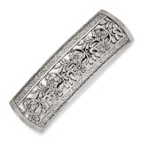 2609 Boutique Jewelry Fashion Flower Hair Barrette Silver-tone by 1928 Jewelry MPN: BF2995