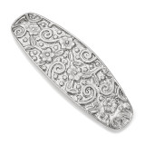 2614 Boutique Jewelry Fashion Hair Barrette Silver-tone by 1928 Jewelry MPN: BF3010