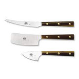 Berti Cutlery Set Of Three Cheese Knives In Roll-Up with Cornotech Handle MPN: 435D