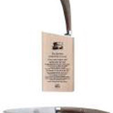 Berti Cutlery Insieme Straight Paring Knife with Ox Horn Handle MPN: 9215