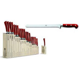 Berti Cutlery Insieme Ham Prosciutto Slicer Knife with Red Lucite Handle MPN: 92390