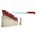 Berti Cutlery Insieme Carving Knife with Red Lucite Handle MPN: 92391