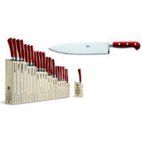 Berti Cutlery Insieme Chefs Knife 10 Inch with Red Lucite Handle MPN: 92395