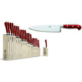 Berti Cutlery Insieme Chefs Knife 8 Inch with Red Lucite Handle MPN: 92396