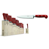 Berti Cutlery Insieme Utility Knife with Red Lucite Handle MPN: 92397