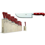 Berti Cutlery Insieme Pesto Knife with Red Lucite Handle MPN: 92399