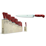 Berti Cutlery Insieme Slicing Knife 8 with Red Lucite Handle MPN: 92400