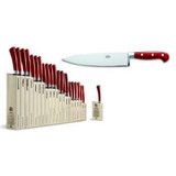 Berti Cutlery Insieme Chefs Knife 9 Inch with Red Lucite Handle MPN: 92402