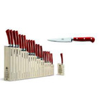 Berti Cutlery Insieme Straight Paring Knife with Red Lucite Handle MPN: 92405