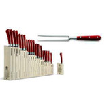 Berti Cutlery Insieme Carving Fork with Red Lucite Handle MPN: 92410