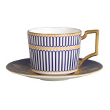 Wedgwood Anthemion Blue Espresso Saucer MPN: 5C102502206 UPC: 091574131436 Wedgwood Anthemion Blue Collection