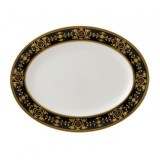Wedgwood Astbury Black Oval Platter 15.25 Inch MPN: 50100503002 UPC: 032675001792 Wedgwood Astbury Black Collection