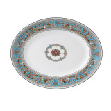 Wedgwood Florentine Turquoise Oval Platter 13.75 Inch MPN: 50102603001 UPC: 032675016604 Wedgwood Florentine Turquoise Collection