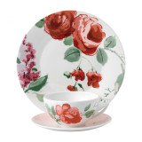 Wedgwood Jasper Conran Floral 3-Piece Set Rose Teacup Saucer and Plate 9 Inch MPN: 40015358 UPC: 701587254182 Wedgwood Jasper Conran Floral Collection