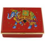 Halcyon Days Ceremonial Indian Elephant Red box ENCIE0614LG EAN: 5060171154587