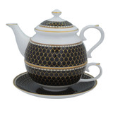 Halcyon Days Antler Trellis Tea set For One Black BCGAT02TOG EAN: 5060171154365