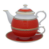 Halcyon Days Antler Trellis Tea For One Red BCGAT06TOG EAN: 5060171154358