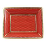 Halcyon Days Antler Trellis Trinket Tray Red BCGAT06TTG EAN: 5060171154303