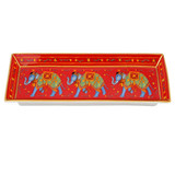 Halcyon Days Ceremonial Indian Elephant Rectangular Tray Red BCCIE06RTG EAN: 5060171154686