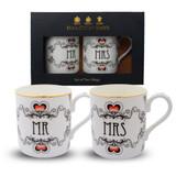 Halcyon Days Mr & Mrs Mug Gift Set BCMAM03MSG EAN: 5060171150596