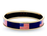 Halcyon Days Stars & Stripes on Navy Medium Bangle 1cm PBUSA1110GM EAN: 5060171136187