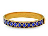 Halcyon Days Agama Deep Cobalt Bluebell Gold 1cm Hinged Bangle HBAGA181910G EAN: 5060171152798