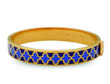 Halcyon Days Agama Deep Cobalt Bluebell Gold 1cm Hinged Bangle HBAGA181910G EAN: 5060171152798