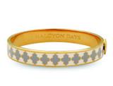 Halcyon Days Agama Cream Grey Gold 1cm Hinged Bangle HBAGA051710G EAN: 5060171152811