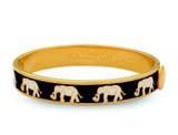 Halcyon Days Elephant Black Gold 1cm Hinged Motif Bangle HBELE0210G EAN: 5060171152873
