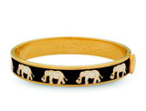 Halcyon Days Elephant Black Gold 1cm Hinged Motif Bangle HBELE0210G EAN: 5060171152873