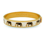 Halcyon Days Elephant Cream Gold 1cm Hinged Motif Bangle HBELE0510G EAN: 5060171152880