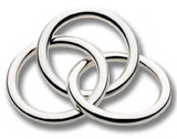 Cunill Barcelona 3 Rings Rattle - Sterling Silver MPN: 203000