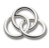 Cunill 3 Rings Rattle - Silverplated MPN: 304261
