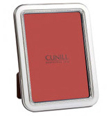 Cunill Barcelona Bead Rounded Corners 5 x 7 Inch Picture Frame - Sterling Silver MPN: 188657
