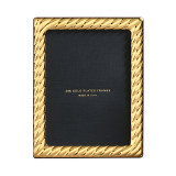 Cunill Barcelona Picasso 5 x 7 Inch Picture Frame - 24k Gold Plated 0.5 Microns MPN: 82257G