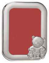 Cunill Barcelona Sitting Bear Cub 4 x 6 Inch Picture Frame - Sterling Silver MPN: 2500