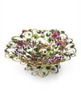 Jay Strongwater Claudette Flora Floral Butterfly Bowl MPN: SDH2358-456