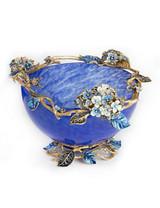 Jay Strongwater Sophie Delft Garden Hydrangea Glass Bowl MPN: SDH2307-284