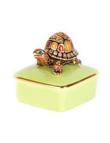 Jay Strongwater Caden Natural Turtle Porcelain Box MPN: SDH7366-280